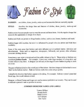 Fashion & Style Lesson