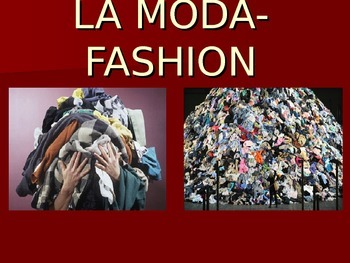 Fashion and Clothing Spanish Vocabulary Introduction PowerPoint