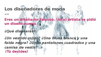 Fashion project Santillana 3 using Unidad 3 vocabulary