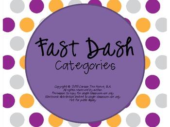 Fast Dash Categories {Freebie}