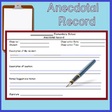 Fast Easy Anecdotal Record Form