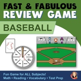 Fact Review Game - Baseball Theme