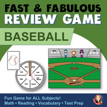 Fast & Fabulous Flash Card Review Game - Baseball