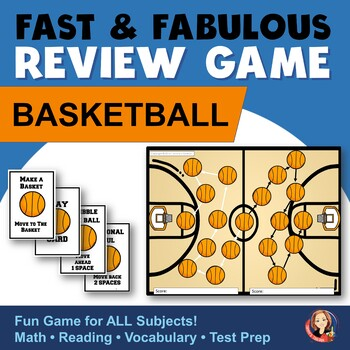Fast & Fabulous Flash Card Review Game - Basketball for Ma