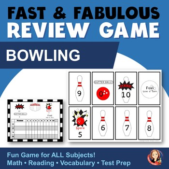 Fast & Fabulous Flash Card Review Game - Bowling