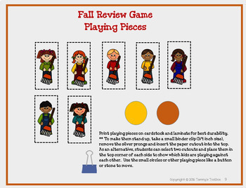 Fact Review Game - Fall Fun Freebie