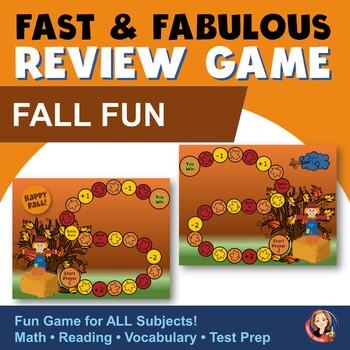 Fall Fun Fact Review Game Freebie