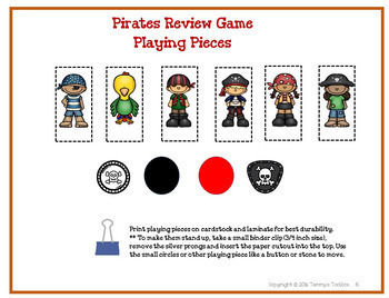 Fact Review Board Game - Pirate Theme