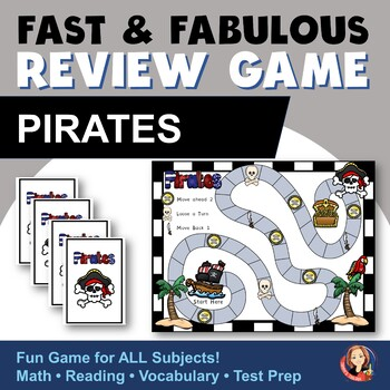 Fast & Fabulous Flash Card Review Game - Pirates