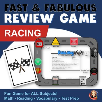 Fast & Fabulous Flash Card Review Game - Racing