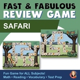 Fact Review Board Game - Safari Theme