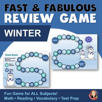 Winter Snowman Fact Review Game