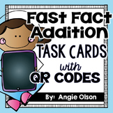 Fast Fact Addition QR Code Task Cards