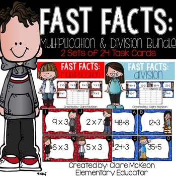 Fast Fact Bundle: Multiplication & Division Scoot