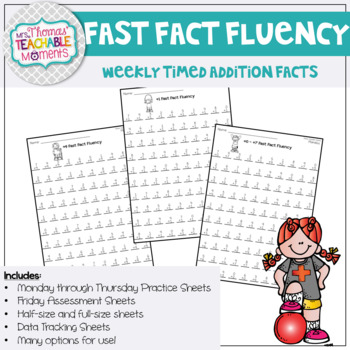 Fast Fact Fluency - Addition Fact Practice