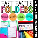 Fast Fact Folders: Addition, Subtraction, Multiplication, Division Fact Fluency