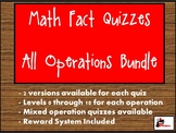 Math Fast Fact Quizzes - All Inclusive Bundle