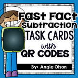 Fast Fact Subtraction QR Code Task Cards