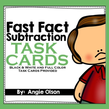 Fast Fact Subtraction Task Cards