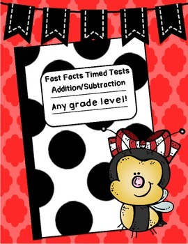 Fast Facts: Addition and Subtraction Mixed Timed Tests