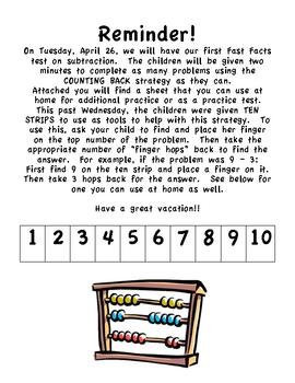 Fast Facts Computational Fluency Program Note