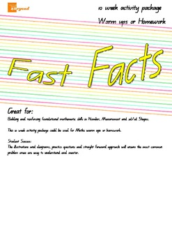 Fast Facts - Daily Maths Facts - Number Patterns Data Meas