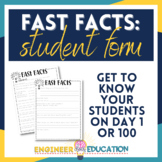 Fast Facts: Getting to Know Students Form