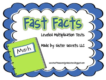 Fast Facts: Leveled Multiplicaton Fact Tests