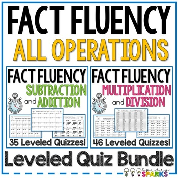 Fast Facts Fluency Quizzes All Operations Bundle