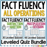 Fast Facts Fluency Quizzes All Operations