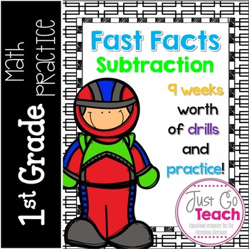 Fast Facts Subtraction Sheets