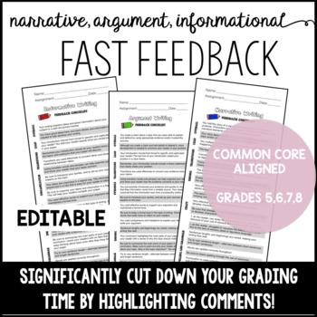 Fast Feedback- EDITABLE