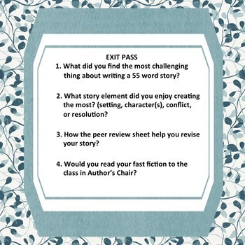 Micro-Fiction: Creative Writing, Narrative Writing, Sub Plan, Fun, CCSS