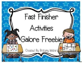 Fast Finisher Activites Galore Freebie