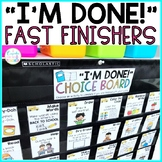 Fast Finisher Activities | Early Finisher Activities for the YEAR