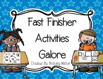 Fast Finisher Activities Galore
