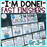 Fast Finisher Activities for Grades 3-5 | Early Finisher Activities for the YEAR