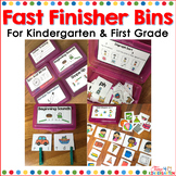 Fast Finisher Bins Bundle Kindergarten and First Grade