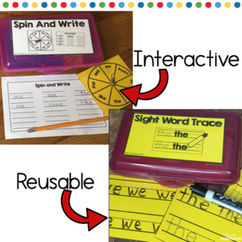 Fast Finisher Bins for Kindergarten