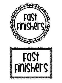 Fast Finisher Cards