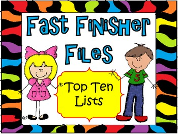 Fast Finisher Files Top Ten Lists