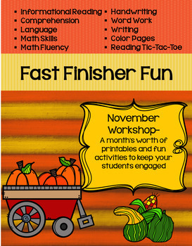 Fast Finisher Fun for November