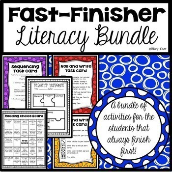 Fast Finisher Literacy Bundle