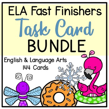 Fast Finisher Task Cards Bundle (4 Seasons)-Language Arts