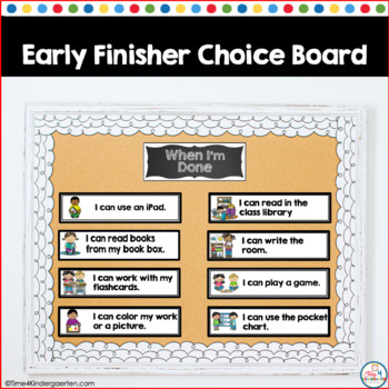 """Fast Finisher choices (I""""m Done-Now What)"""