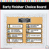 Fast Finishers Choices: I'm Done Now What