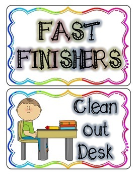 Fast Finishers