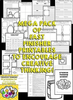 Early Finishers: Fourth Grade Fast Finishers Activities (Creative Thinking)