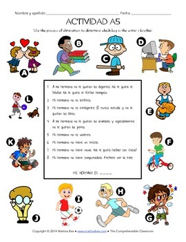 Fast Finishers Activities for Spanish: Pack A