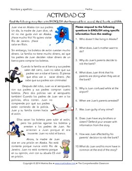 Fast Finishers Activities for Spanish: Pack C